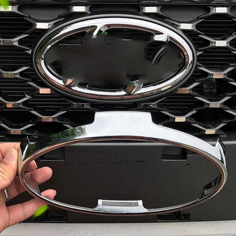 ABS Chrome For Hyundai Kona Encino 2018 2019 Accessories car styling Car Front frame Decoration Cover Trim 1pcs