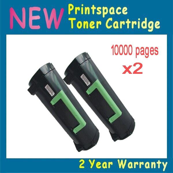 ФОТО 2x NON-OEM Toner Cartridges Compatible For Lexmark MX611 MX611de MX611dhe MX611dte