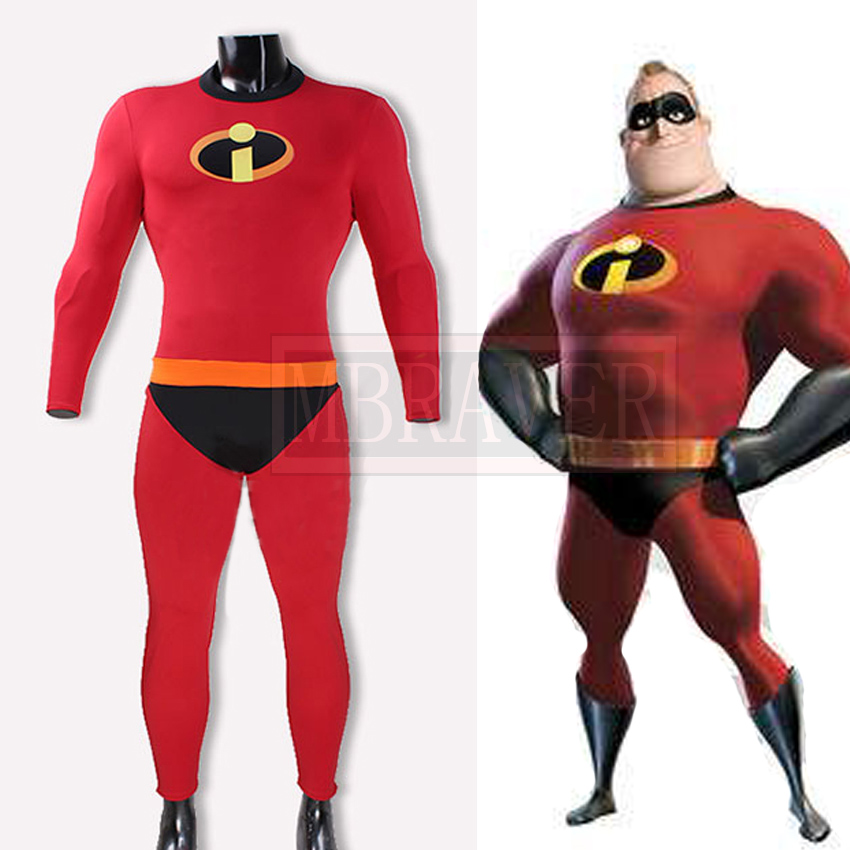 The Incredibles 2 Mr. Incredible Bob Parr Cosplay Costume Halloween Outfit Full Set Custom Made Free Shipping