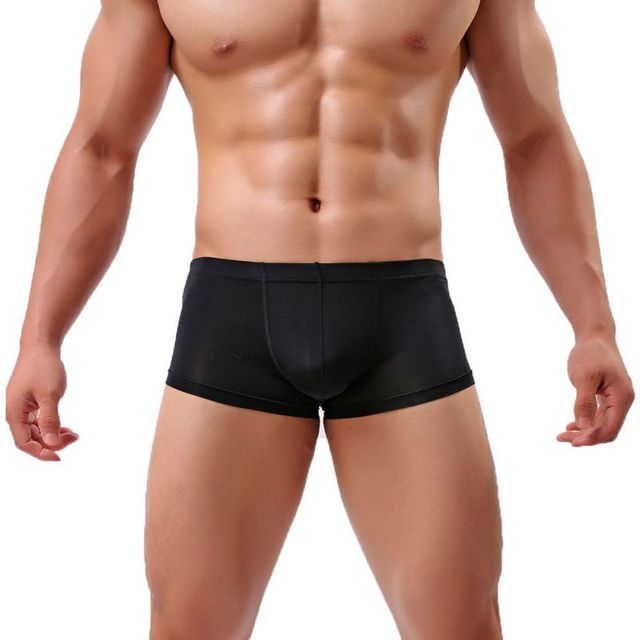 2018 Sexy Men Boxer Breathable Comfy Solid Underpants Homme Panties Soft Breathable Underwear Comfortable Brand Mens Boxers