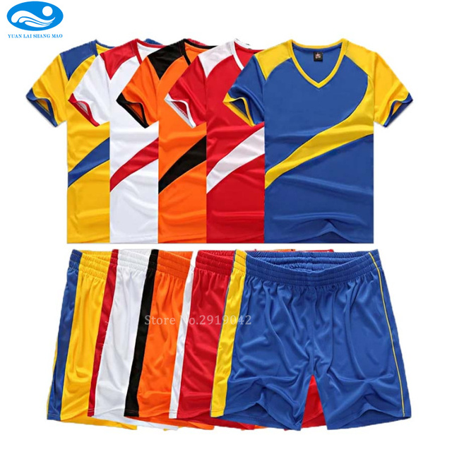 c8e9f692c High quality child soccer jerseys 2016 2017 Child Kids soccer set boys  custom football jersey uniforms kids youth Short Sleeved