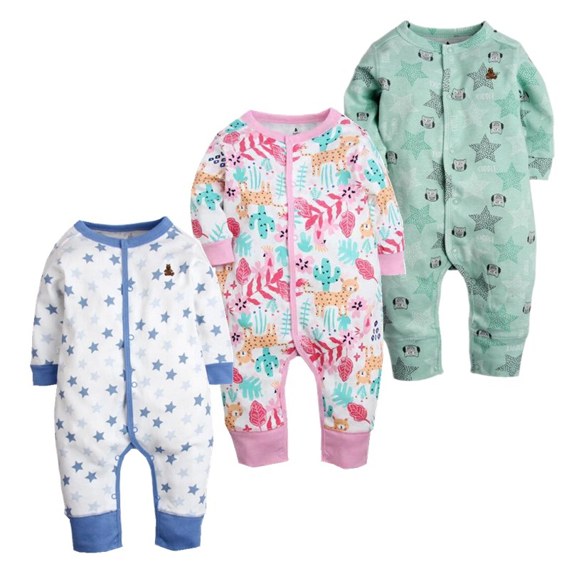 2017 new Baby Girls & Boys Pajamas, 100% cotton brand jumpsuits meninas clothes babies , newborn -24M bebes rompers baby clothes 2017 children s clothing pajamas newborn baby rompers baby cotton long sleeved overalls boys girls autumn bebes clothes sr105