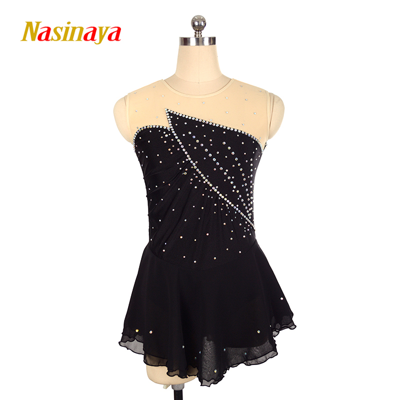 Nasinaya Figure Skating Dress Customized Competition Ice Skating Skirt for Girl Women Kids Patinaje Gymnastics Performance