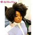 Mongolian Short Human Hair Wigs Afro Kinky Curly Glueless None Lace Full Head Kinky Curly Wig Short Wigs For Black Women
