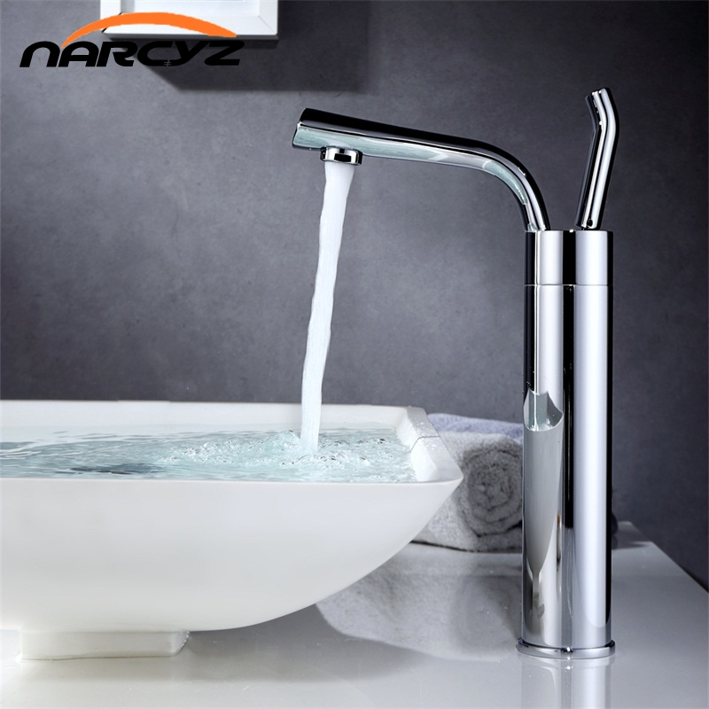 Narcyz Modern Style Free Shipping Basin Chrome Faucet Cold and Hot Water Mixer Torneira Da Bacia Single Handle XT525 frap modern style free shipping basin faucet cold and hot water mixer torneira da bacia single handle black white basin faucets