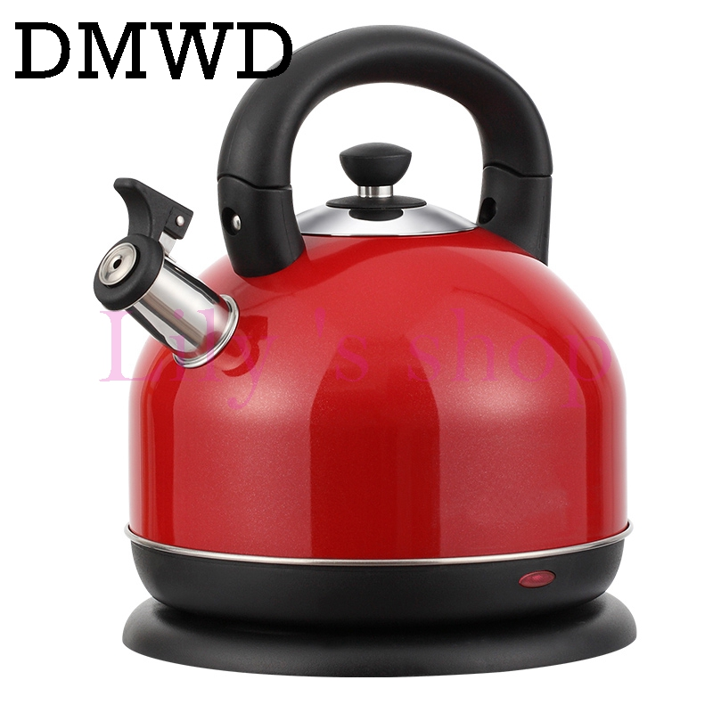 DMWD Household Electric Kettle 2000W Safety Auto-Off Stainless Steel Quick water Heating Kettles boiler teapot 3L tea pot heater dmwd electric kettle eggs slow cooker teapot multifunction porridge stew pot hot water boiler timing milk heater 1 8l 110v 220v