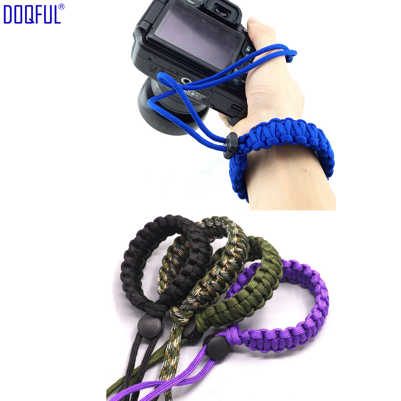 10X Woven Camera Pendant Umbrella Rope Bracelet EDC Tactical Paracord Parachute Cord Survival Outoor Photography Climbing Travel