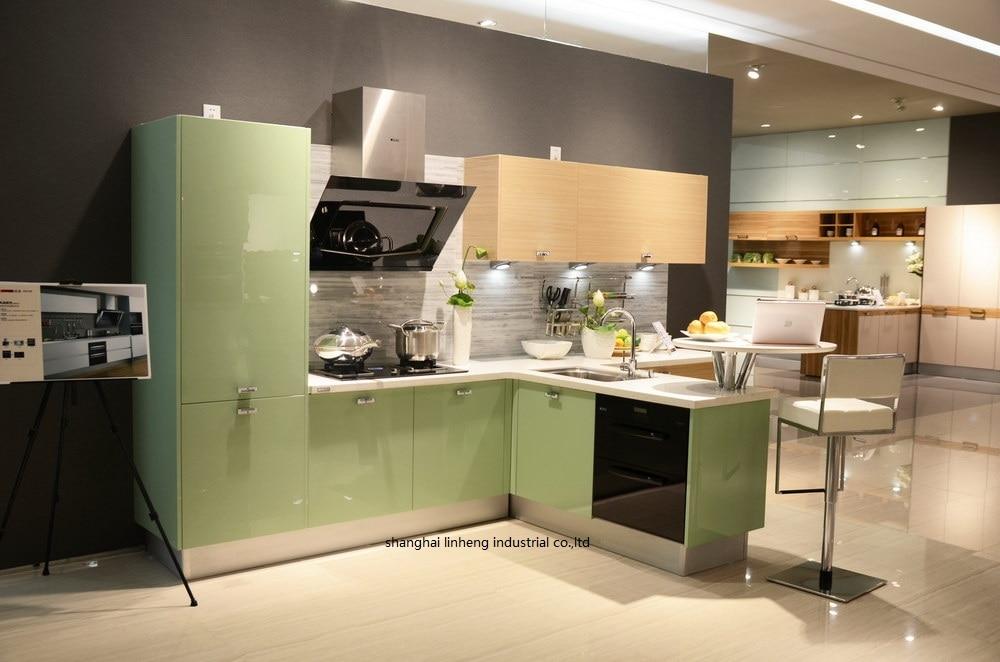 Акриловый глянцевый/лаковый кухонный шкаф (LH HA009)