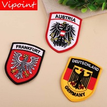 VIPOINT embroidery eagle patch college patches badges applique for clothing YX-154
