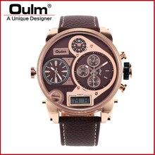 Мужские Часы Большой 9316B OULM Марка Luxury Design Армии Японии Movt кварцевые dz Часы Мужской Спорт Reloj Montres де Marque de Luxe Hombre