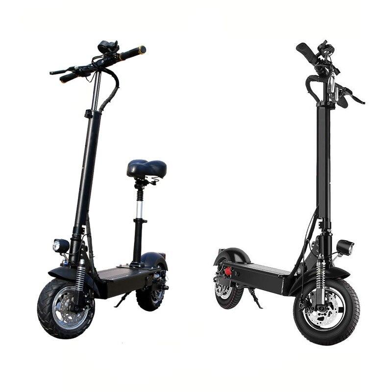 Ebike électrique pliant 11 pouces 48 V 18AH/26AH un siège noir 11 pouces scooter