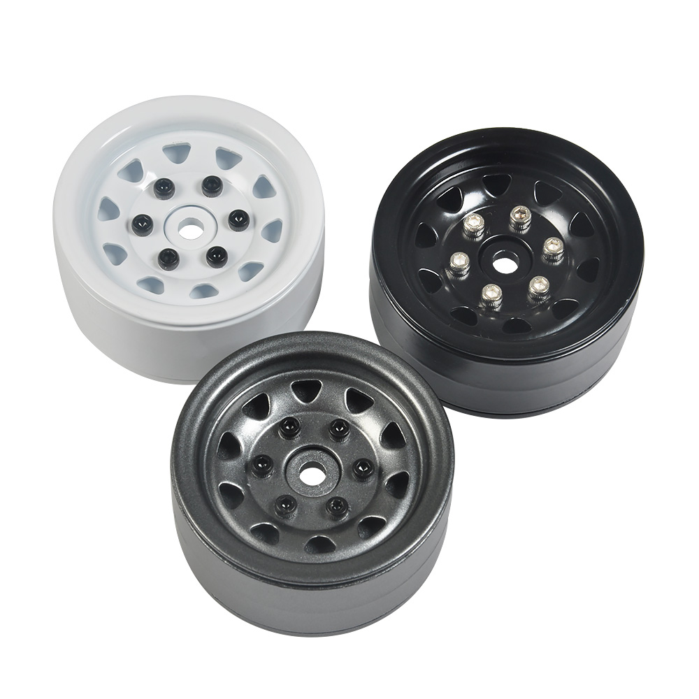 RC Rock Crawler Metal Wheel Rim 1.9 Inch No. 55 for 1/10 Axial SCX10 90046 TAMIYA CC01 RC4WD D90 D110 TF2 Wheel Hub 4pcs 1 9 alloy 1 10 rc crawler wheel rim 1 9 inch wheel rims hub rc car accessories for 1 10 rc d90 scx10 cc01 d110 rock crawler