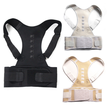 Male Female Adjustable Magnetic Posture Corrector Corset Back Brace Back Belt Lumbar Support Straight Corrector de espalda S-XXL 1