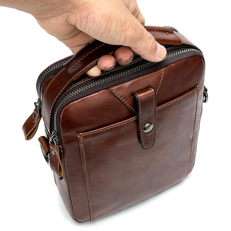 Men 39 s vintage casual cross body bag business multi purpose handbag in Crossbody Bags from Luggage amp Bags