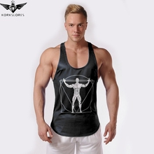 2018 KORKSLORES GYMS vest Fitness Tank Top Men Stringer Golds Bodybuilding Muscle Shirt Workout Vest gyms Undershirt M L XL XXL