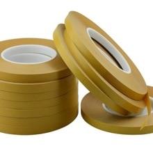 50 м двухсторонняя клейкая лента ПЭТ акриловая клейкая Желтая пленка прозрачная прочная прозрачная упаковочная бумага ручная работа