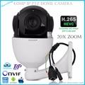 5 pulgadas H.265 IP Velocidad Media Cámara Domo P2P 4.0 Megapíxeles 20X zoom óptico onvif de Red ip PTZ cámara domo de velocidad media