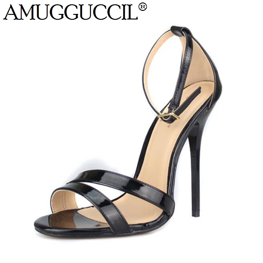 2019 New Plus Big Size 35-48 Black Buckle Fashion Sexy High Heel Party Wedding Summer Girl Female Ladies Women Sandals L11192019 New Plus Big Size 35-48 Black Buckle Fashion Sexy High Heel Party Wedding Summer Girl Female Ladies Women Sandals L1119