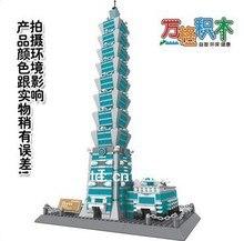 Free Shipping WanGe 8019 3D 1511PCS large Bricks blocks Building block sets children educational toys famous building Taipei 101