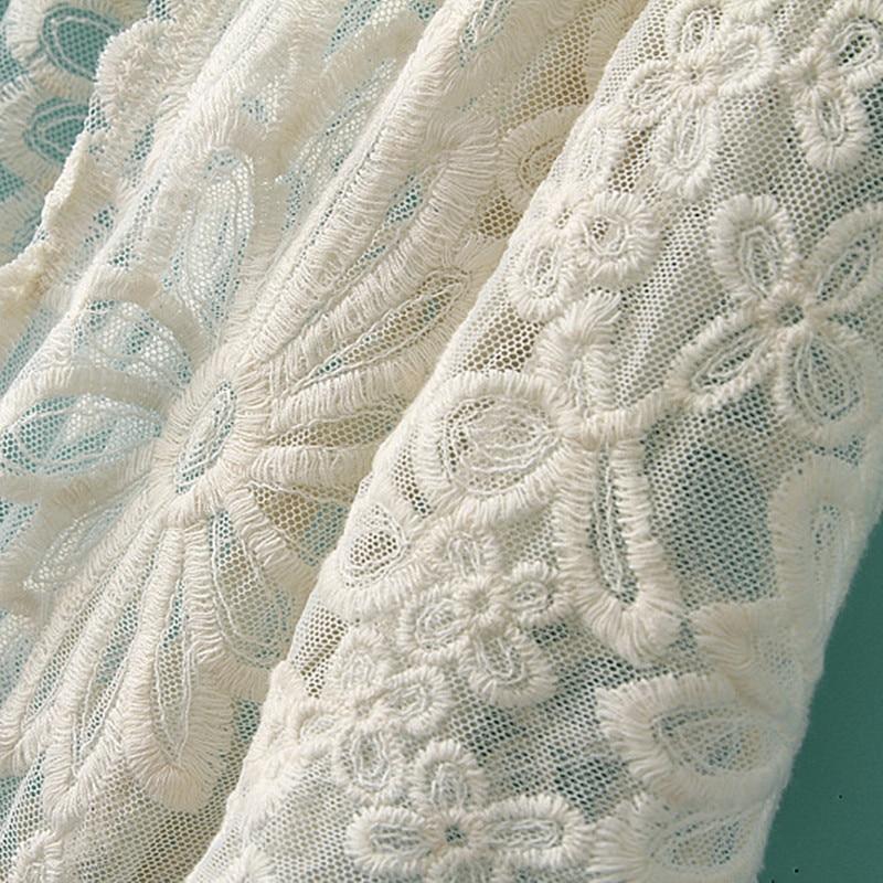 Kokvilnas mežģīnes topi sievietes salds gudrs ziedu izšuvumi - Sieviešu apģērbs - Foto 3