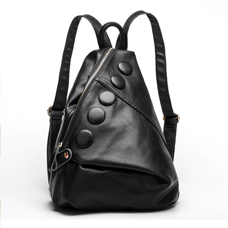 ФОТО Free Shipping College Style Genuine Leather Backpack Brand Design Women Bag School Pouch Mochila Women Backpack YS1197