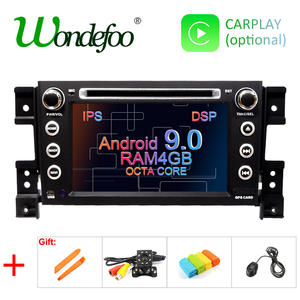 DSP IPS Android 9.0 4G CAR GPS 2 DIN DVD PLAYER For SUZUKI GRAND VITARA 2007-2013