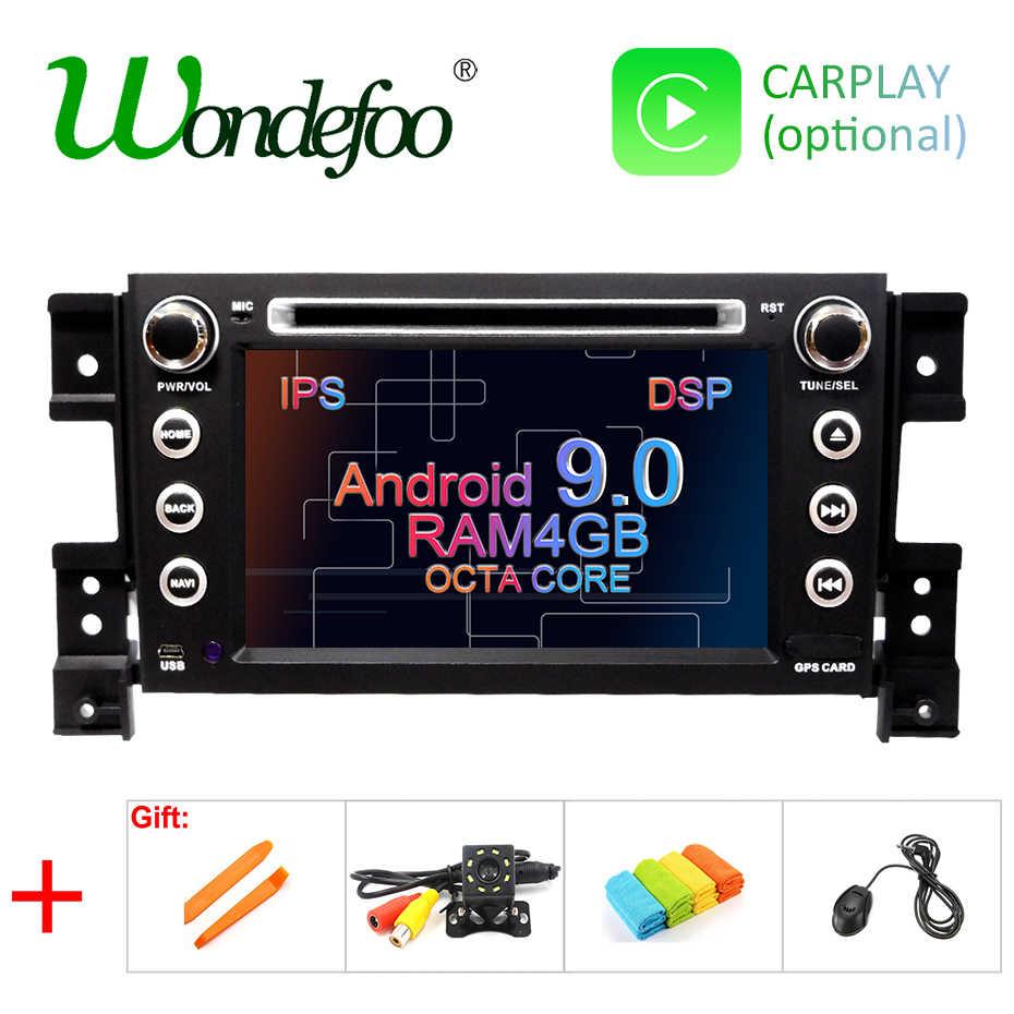 DSP ips Android 9,0 4G Автомобильный gps dvd-проигрыватель 2 DIN для SUZUKI GRAND VITARA 2007-2013 gps Радио стерео экран навигации