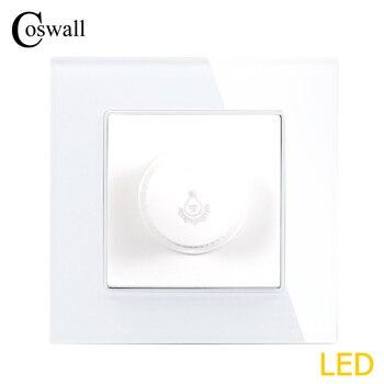 Régulateur de variateur de lampe COSWALL uniquement pour ampoule lumière LED panneau de verre cristal de luxe interrupteur de lumière murale interrupteur 16A 0 ~ 300 W
