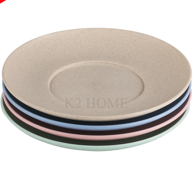 Set Of 4 Natural Eco Friendly Healthy Wheat Straw Plastic Round Dinner Dishes Plates Kitchen Bowl  sc 1 st  AliExpress.com & Set Of 4 Natural Eco Friendly Healthy Wheat Straw Plastic Round ...