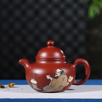 Yixing recommended pure manual authentic undressed ore dahongpao chaking Duo ball home wang fang the teapot