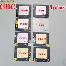 ChengHaoRan 8 modèles lentille en verre en plastique pour GBC écran lentille en verre pour jeu garçon couleur lentille protecteur W/Adhensive Pikachu Mario