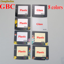 ChengHaoRan 8 modelle Kunststoff Glas Objektiv für GBC Screen Glas Objektiv für Game boy Farbe Objektiv Protector W/Adhensive pikachu Mario