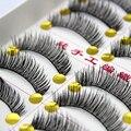 30 Pairs Professional False Eyelashes Maquiagem Cotton Stalk Eyelashes Fake Eye Lashes Thick Natural False Eyelashes Extension