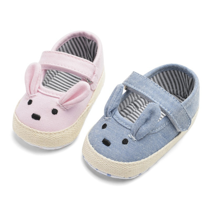 Baby Girls Shoes Newborn Spring Canvas Casual  Baby Girls Shoes First Walkers Cotton Soft Cartoon Girls Shoes Prewalker