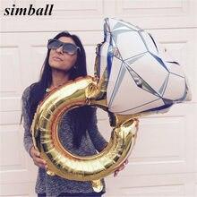 Balões amantes de casamento, balões de diamante, anel de noiva, noivado, dia dos namorados, decoração de casamento, balões, 1 peça
