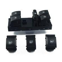 4 pçs janela levantador interruptor de alimentação apto para vw jetta mk5 golf & plus gti mk5 mk6 coelho passat b6 tiguan cc, 1k4959857, 7l6959855b