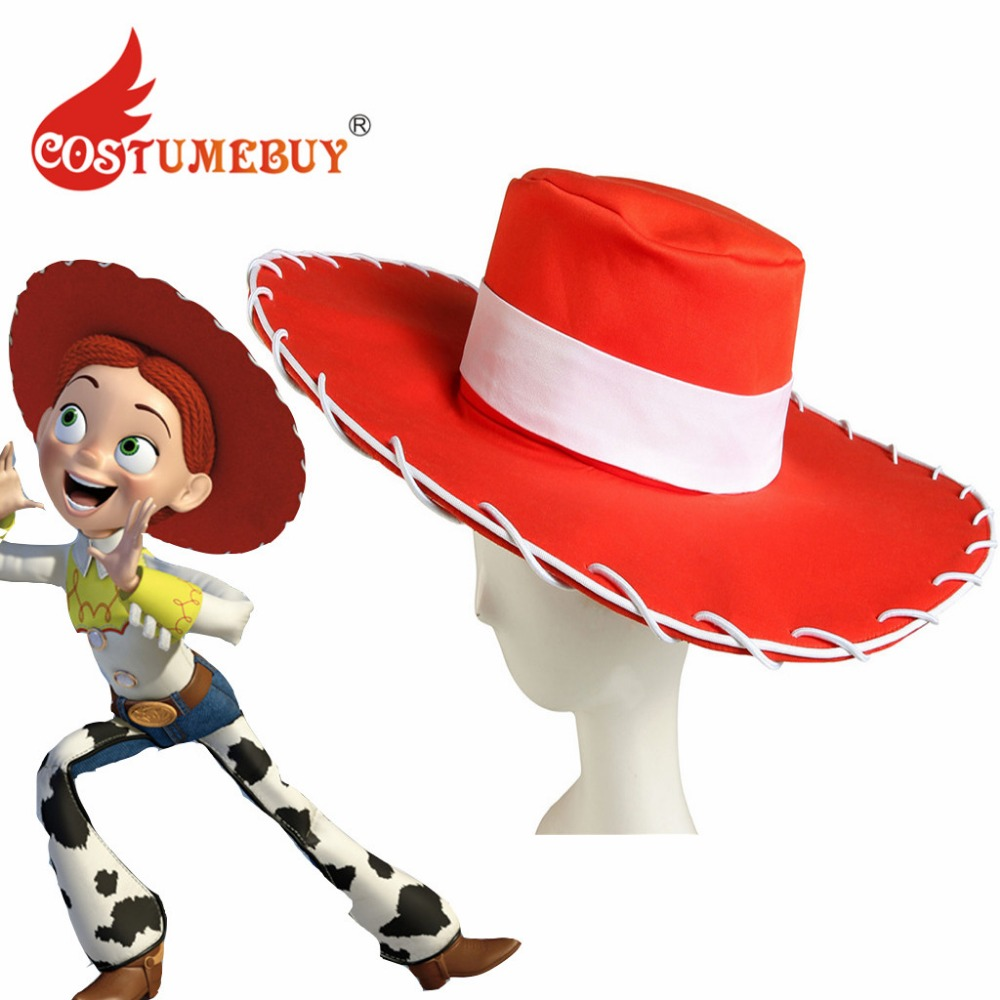 Conscientious Costumebuy Cartoon Toy Story Jessie Cosplay Hat Adult Toy Story Jessie Red Hat Props L920