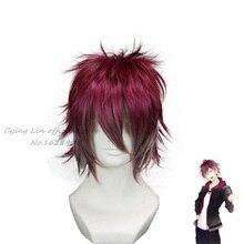 Cosplay DIABOLIK AMANTES Sakamaki Ayato Cos Pelucas + casquillo de la peluca Corta envío libre de las mujeres sintéticas pelucas peruca perruque sinteticas