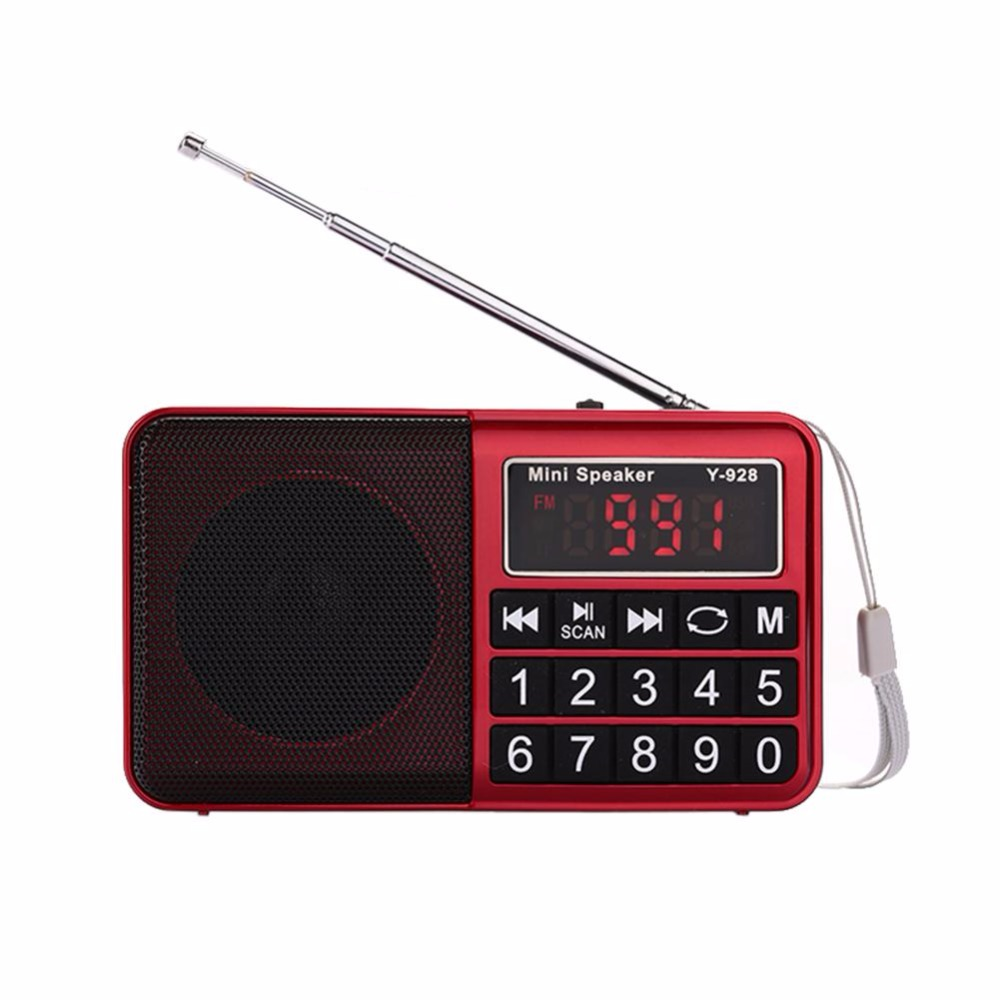 For Y-928 Mini Portable Digital FM Radio Receiver media Speaker With USB/AUX/TF Suport 4Color Portable Radio