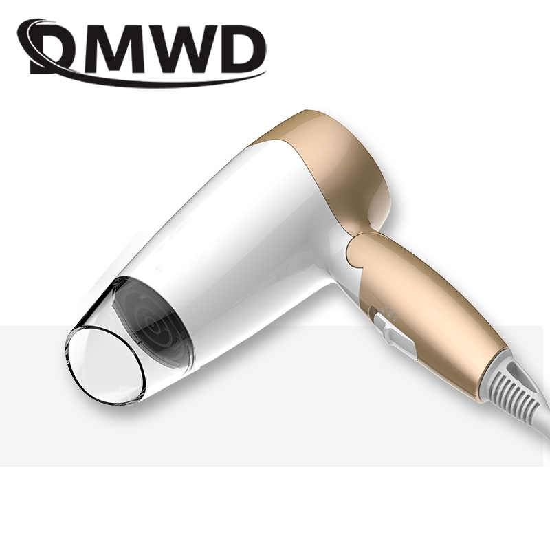 DMWD Foldable electric Hairdryer MINI Hot Cold air wind hair dryer Blower portable household travel salon styling tool 110V 220V dmwd mini hair dryer foldable electric travel hairdryer household portable styling tool hot warm cold wind air blower 110v 220v