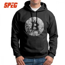 c474a94a9 Homens Moletom Com Capuz Do Vintage Logotipo Bitcoin Cryptocurrency  Purificada Algodão Hoodies Moletom Com Capuz Camisa