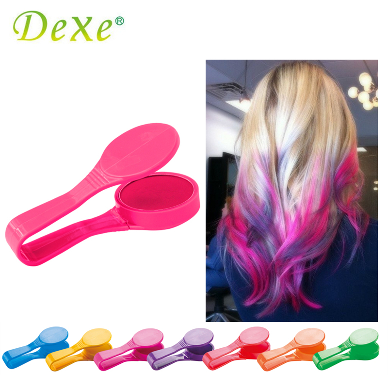 Dexe Temporäre Haarfarbe Kreide Pulver Schönheit Gaga Halloween Party Makeup Einweg DIY Super Haarfärbemittel Bunte Styling Kit