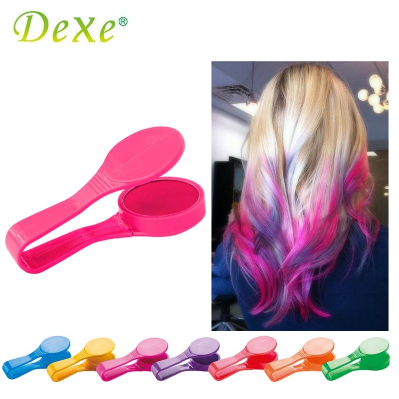 dexe temporaire couleur des cheveux chalk poudre beaut gaga halloween party maquillage jetable bricolage super cheveux - Poudre Colorante Cheveux