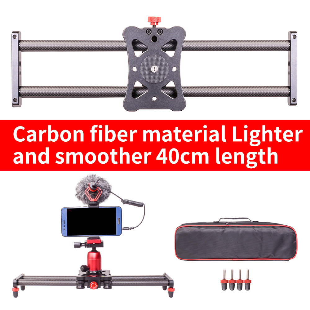 Smart phone mini Carbon fiber camera 40cm slider 5kg bear travel portable video slider dolly track