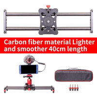 Smart phone mini Carbon fiber camera 40cm slider 5kg bear travel portable video slider dolly track DSLR rail parallel shooting