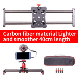 Smart phone mini Carbon fiber camera 40cm slider 5kg bear travel portable video slider dolly track DSLR rail parallel shooting