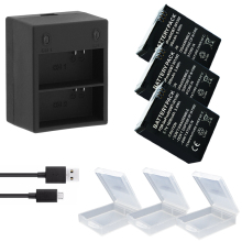 3x 1600mAh AHDBT-301 Go Pro Hero 3 3+ go pro battery + LED Dual charger for Gopro hero3 Action camera accessories