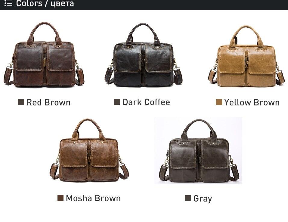 maletas de couro dos homens bolsa para
