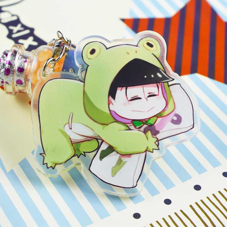 T1394 Anime Osomatsu-San Acrylique Keychain Porte-clés bretelles RARE Cosplay