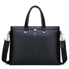 New MenS Bag Fashionable Soft Leather Zipper Handbag Gennune Business Briefcase Computer Messenger